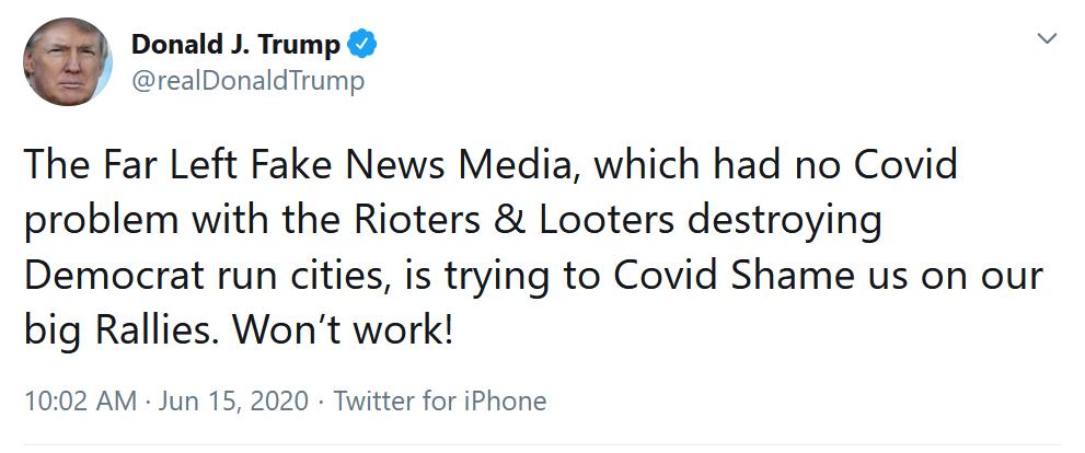 """6-15 """"The Far Left Fake News Media"""""""
