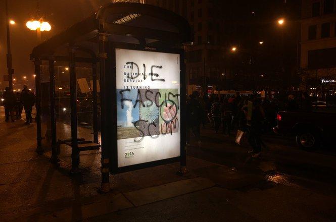 Photo of 'Die Fascist Scum' graffiti