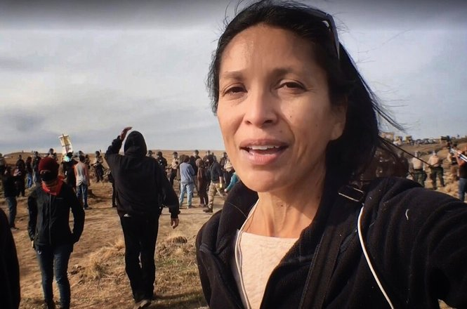 Jenni Monet at Standing Rock