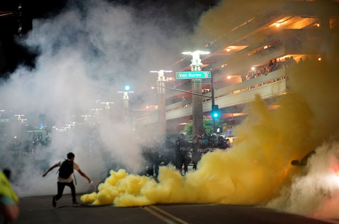 Tear gas in Phoenix, Arizona