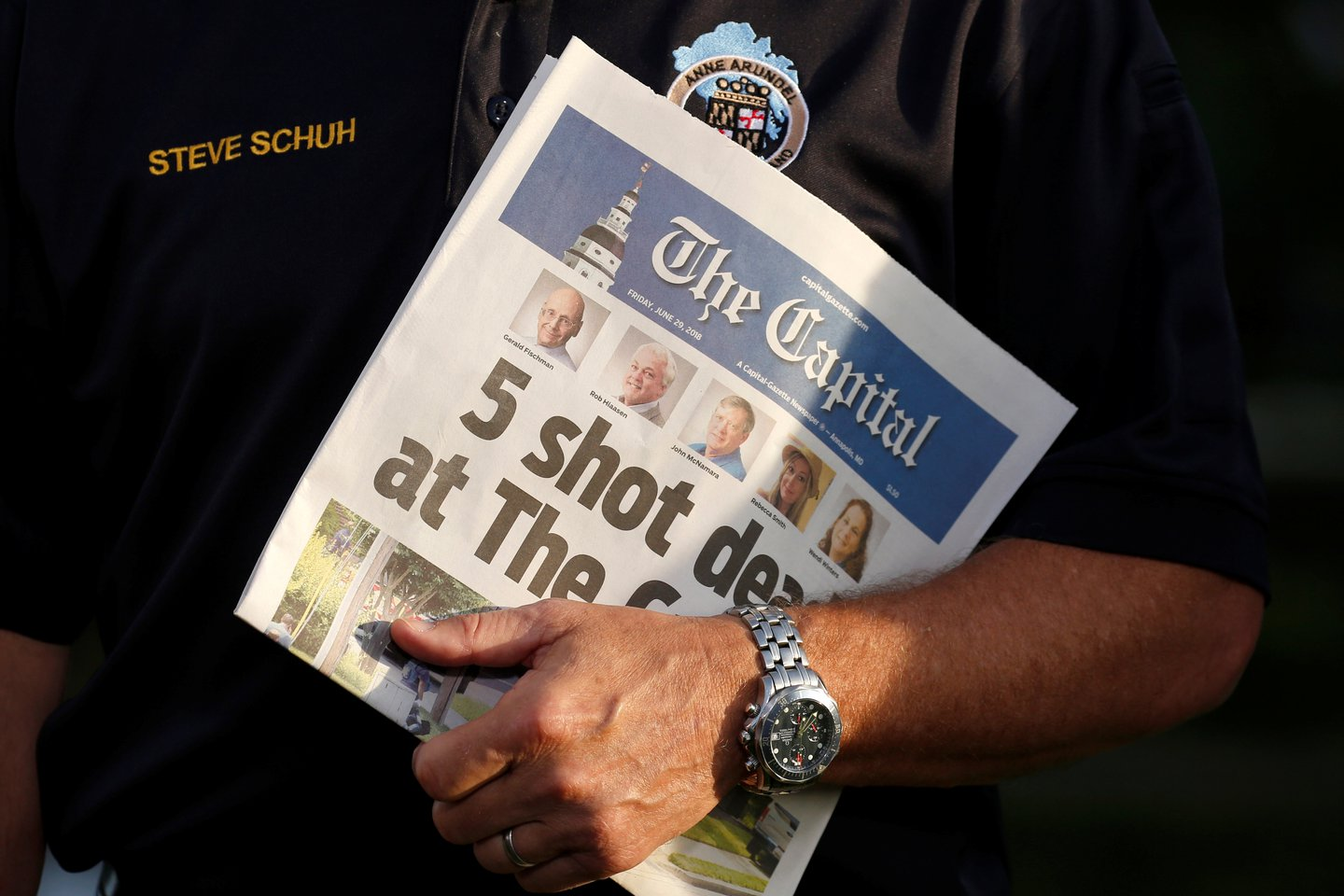 Anne Arundel county executive holds The Capital newspaper
