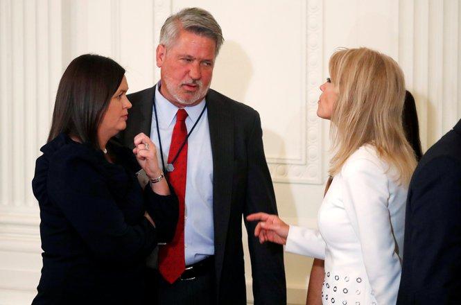 Bill Shine, Sarah Huckabee Sanders, Kellyanne Conway
