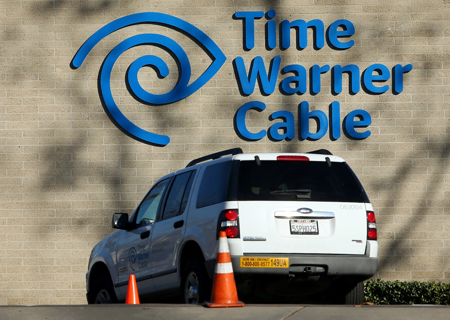 A Time Warner Cable truck returns to its office in San Diego, California, U.S., November 2, 2016.