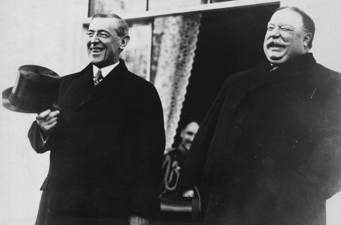 Woodrow Wilson and William Howard Taft