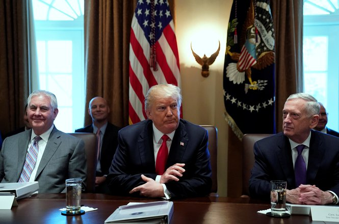 Donald Trump in January 10 Cabinet meeting