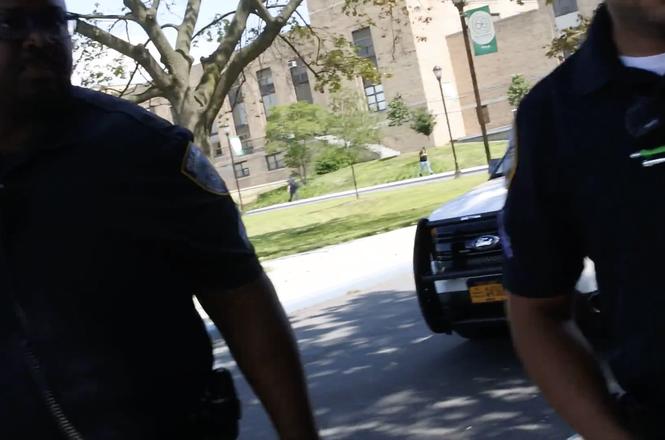 Screenshot from J.B. Nicholas video at Bronx Community College