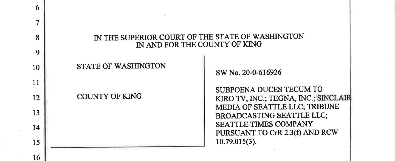Seattle subpoena